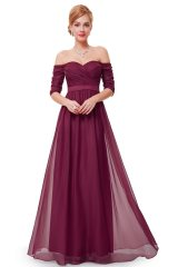 Prom Dress Ryta Bordeaux - online fashion store