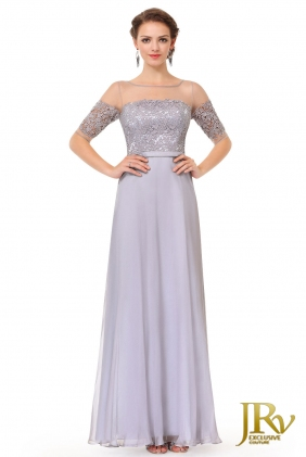 Evening dress Anya Grey from JRV shop collection EVENING DRESSES
