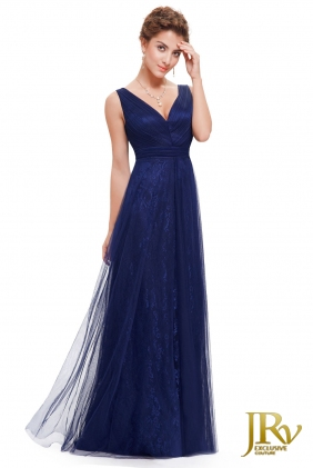 Evening dress Yva Dark Blue from JRV shop collection EVENING DRESSES