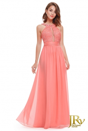 Occasion Dress Attya Coral from JRV shop collection OCCASION DRESSES