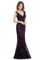 Occasion Dress Lyna Deep Purple - online fashion store